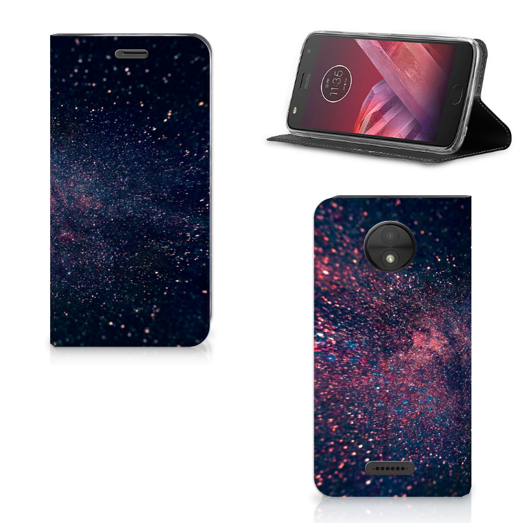 Motorola Moto C Stand Case Stars