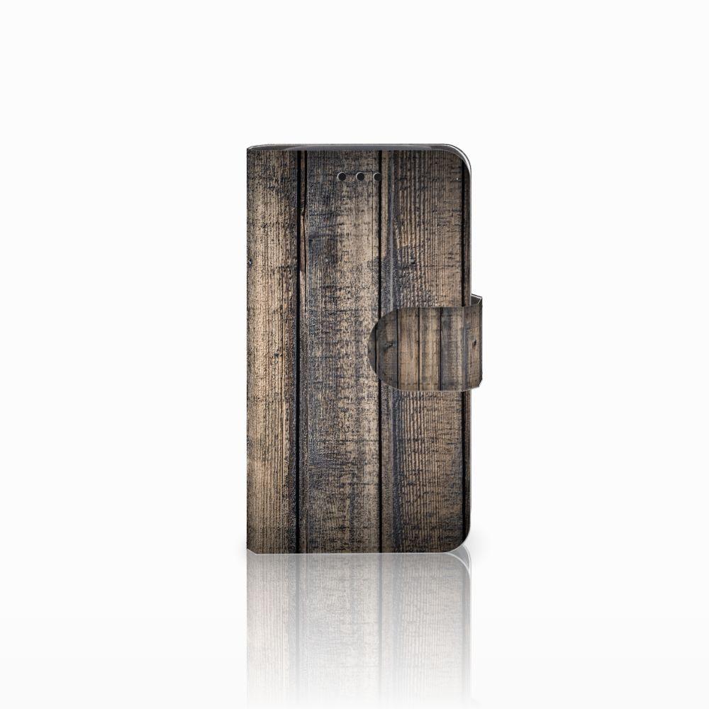 Samsung Galaxy Core i8260 Boekhoesje Design Steigerhout