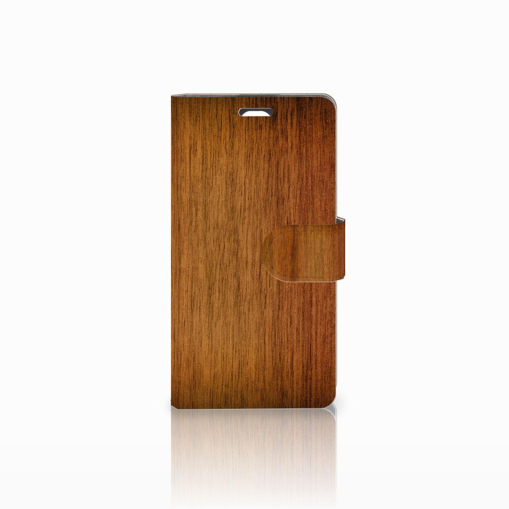 LG Magna | G4C Uniek Boekhoesje Donker Hout