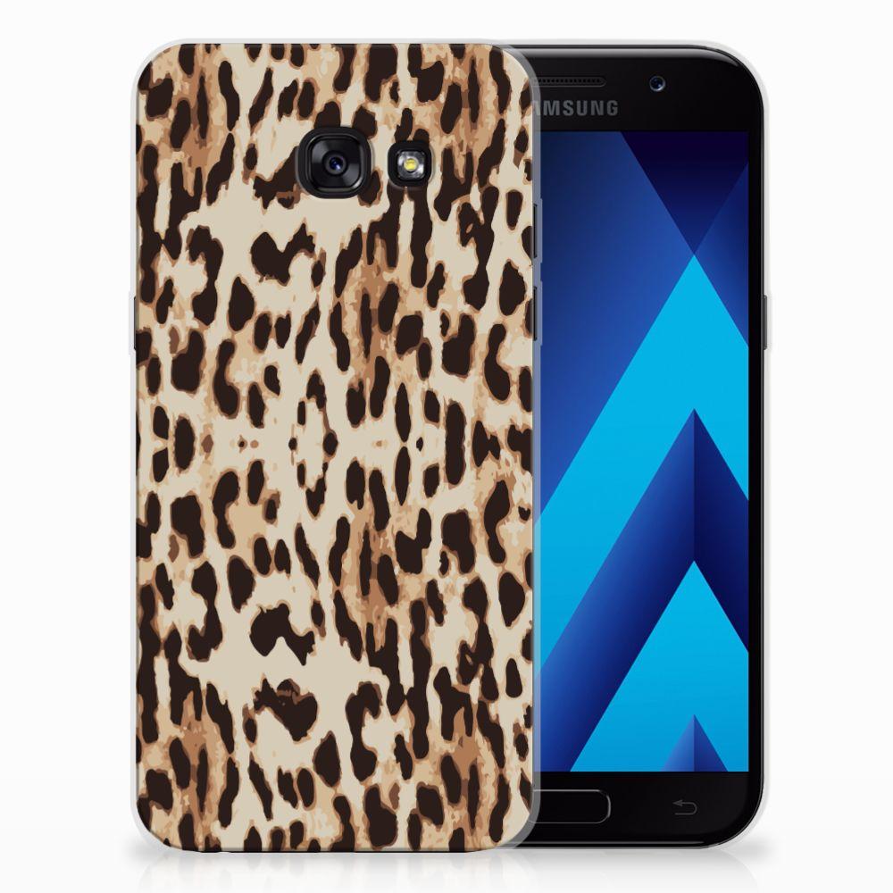 Samsung Galaxy A5 2017 TPU Hoesje Leopard