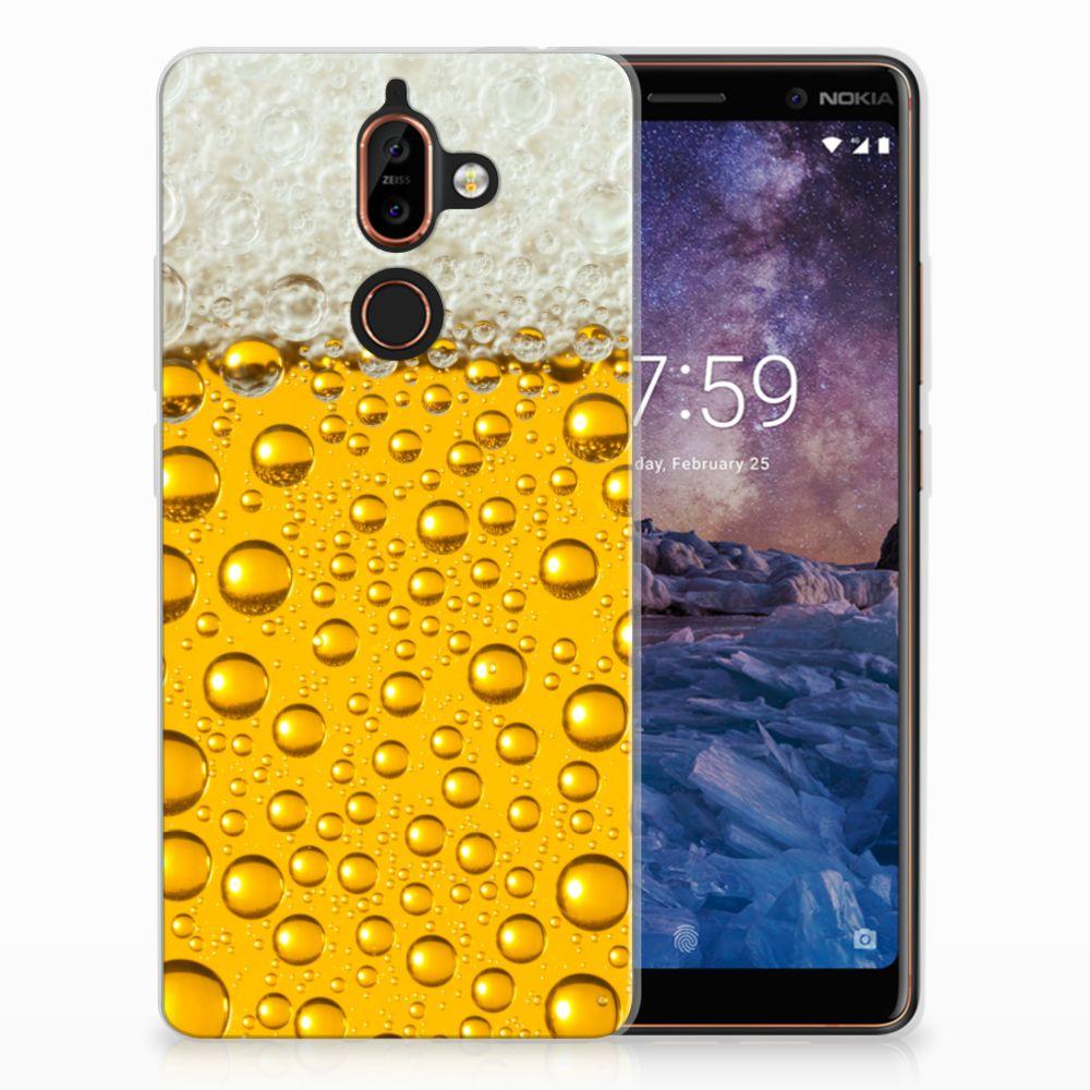 Nokia 7 Plus Siliconen Case Bier