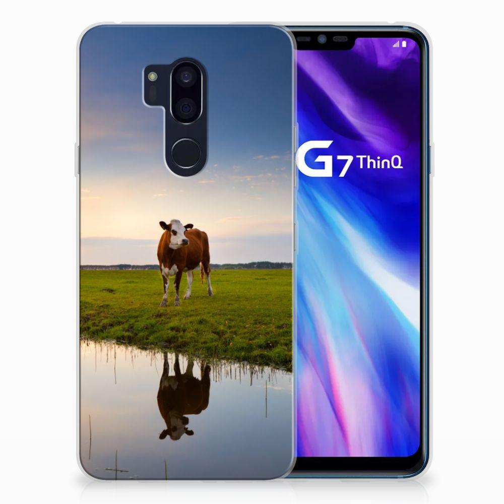 LG G7 Thinq TPU Hoesje Design Koe