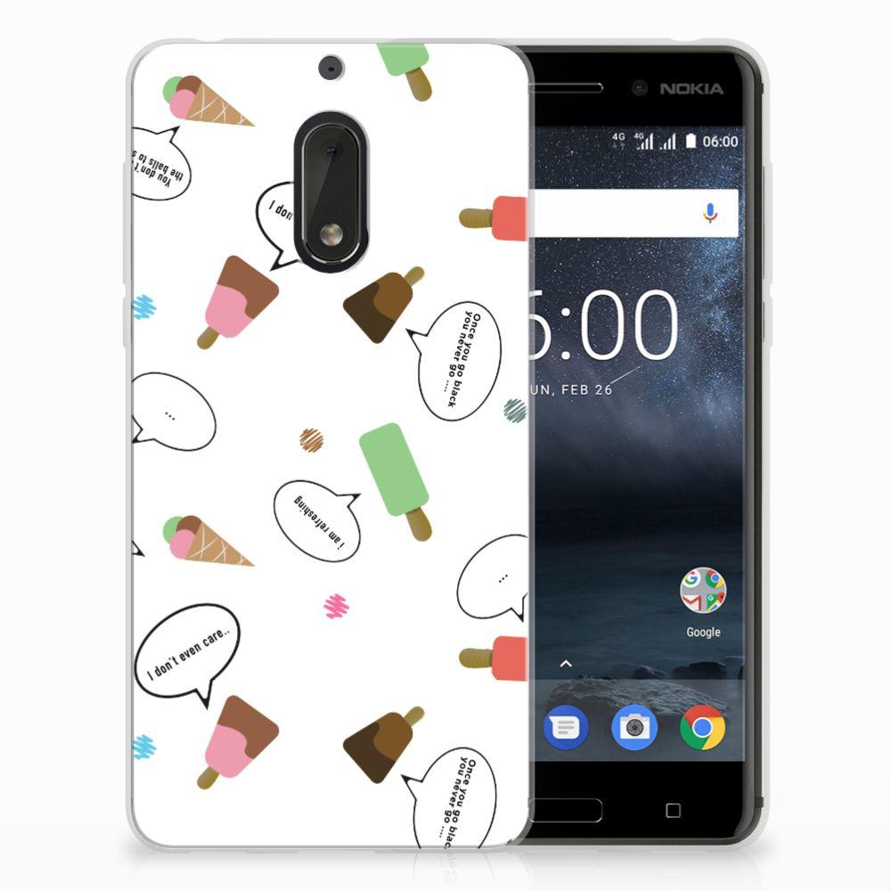 Nokia 6 Siliconen Case IJsjes