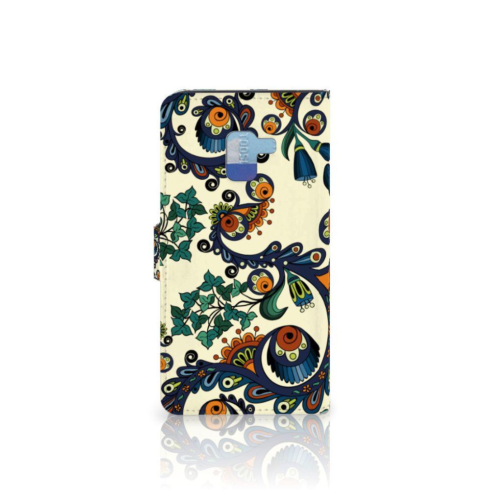 Wallet Case Samsung Galaxy A8 Plus (2018) Barok Flower