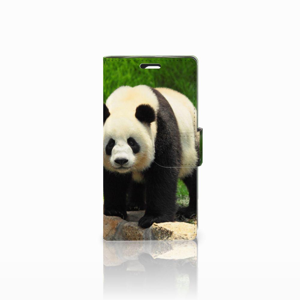 LG Spirit Telefoonhoesje met Pasjes Panda