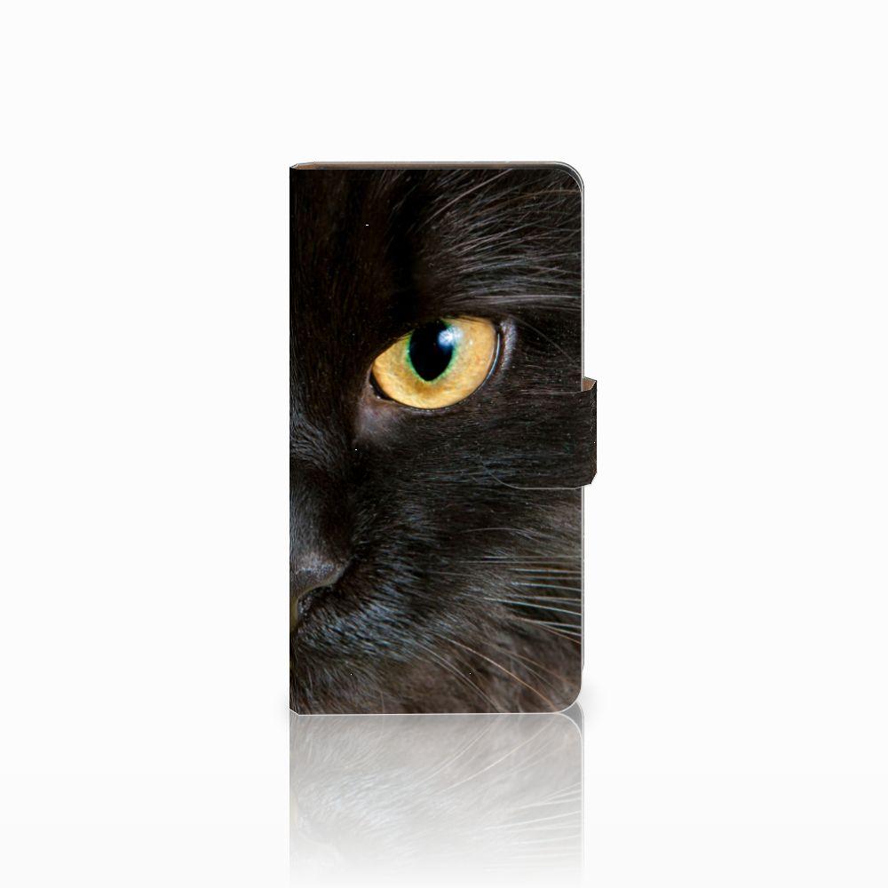 Huawei Ascend G700 Uniek Boekhoesje Zwarte Kat