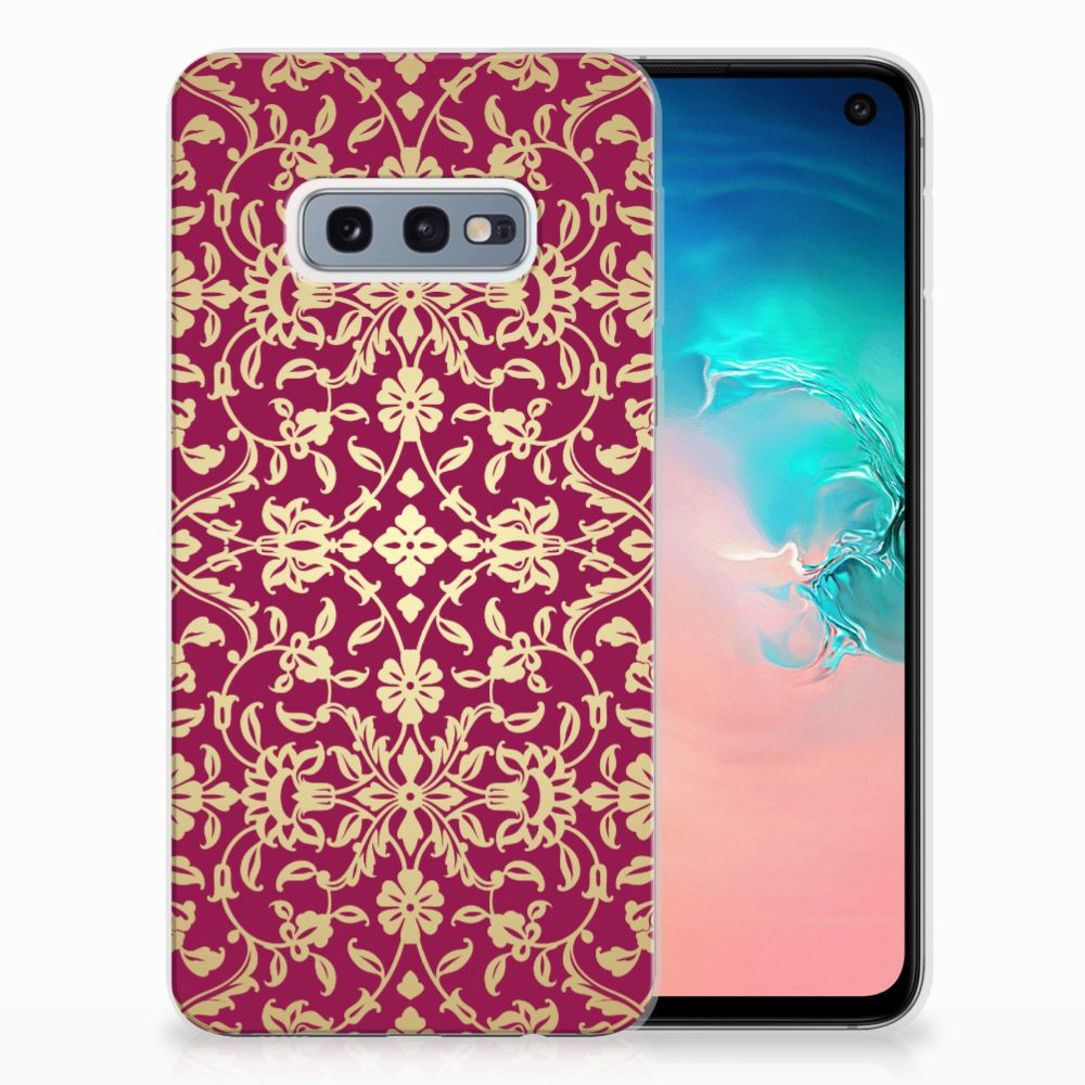 Samsung Galaxy S10e TPU Hoesje Design Barok Pink