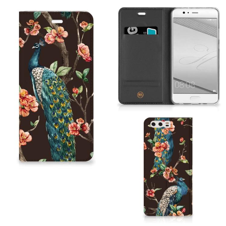 Huawei P10 Plus Hoesje maken Pauw met Bloemen