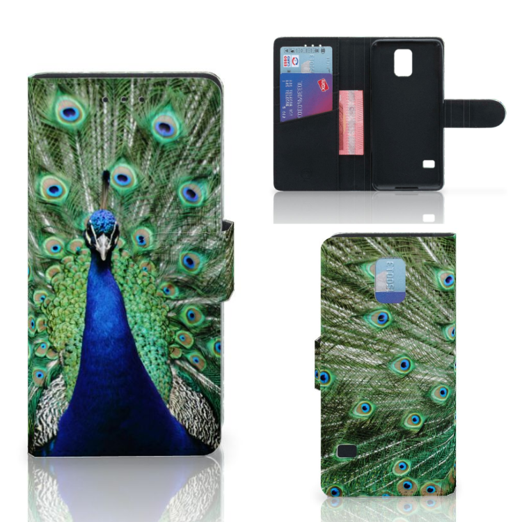 Samsung Galaxy S5 | S5 Neo Telefoonhoesje met Pasjes Pauw