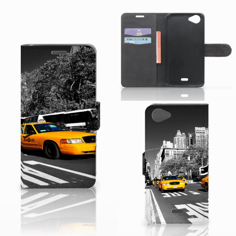 Wiko Rainbow Jam Flip Cover New York Taxi