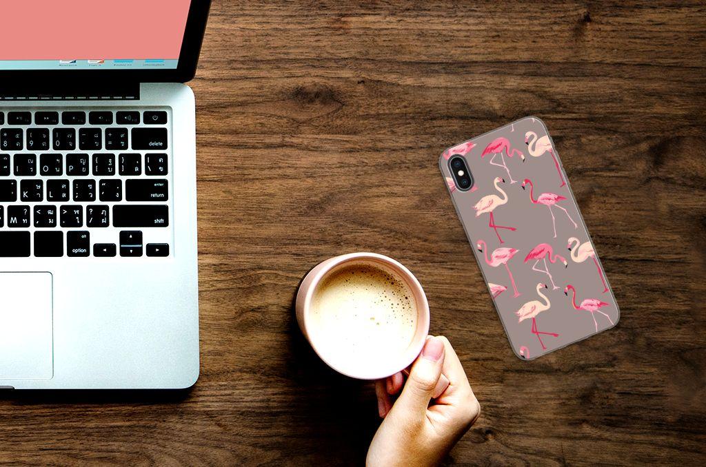 Apple iPhone Xs Max Leuk Hoesje Flamingo