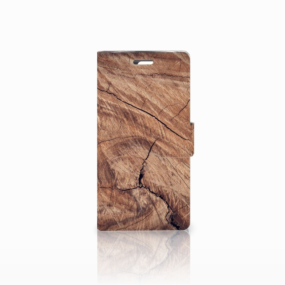 LG K10 2015 Book Style Case Tree Trunk