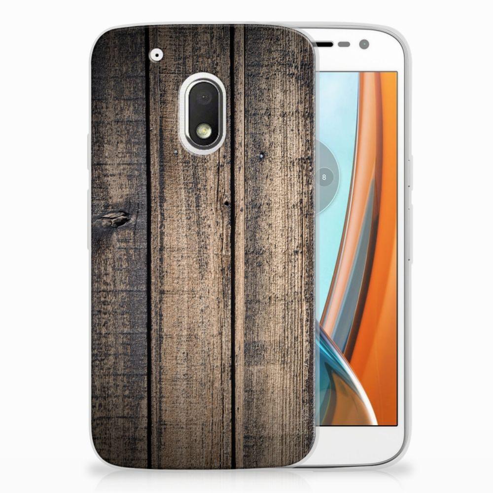 Motorola Moto G4 Play TPU Hoesje Design Steigerhout