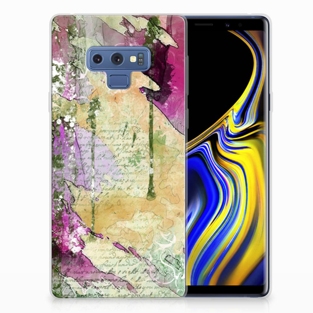 Samsung Galaxy Note 9 Uniek TPU Hoesje Letter Painting