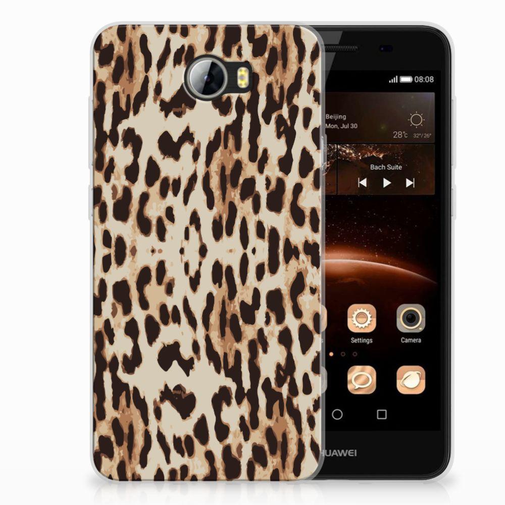 Huawai Y5 II | Y6 II Compact TPU Hoesje Leopard