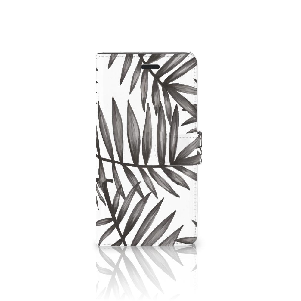 Samsung Galaxy A7 2017 Uniek Boekhoesje Leaves Grey