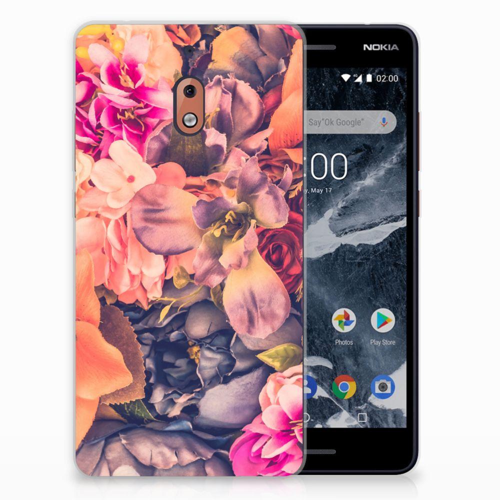 Nokia 2.1 (2018) TPU Hoesje Design Bosje Bloemen