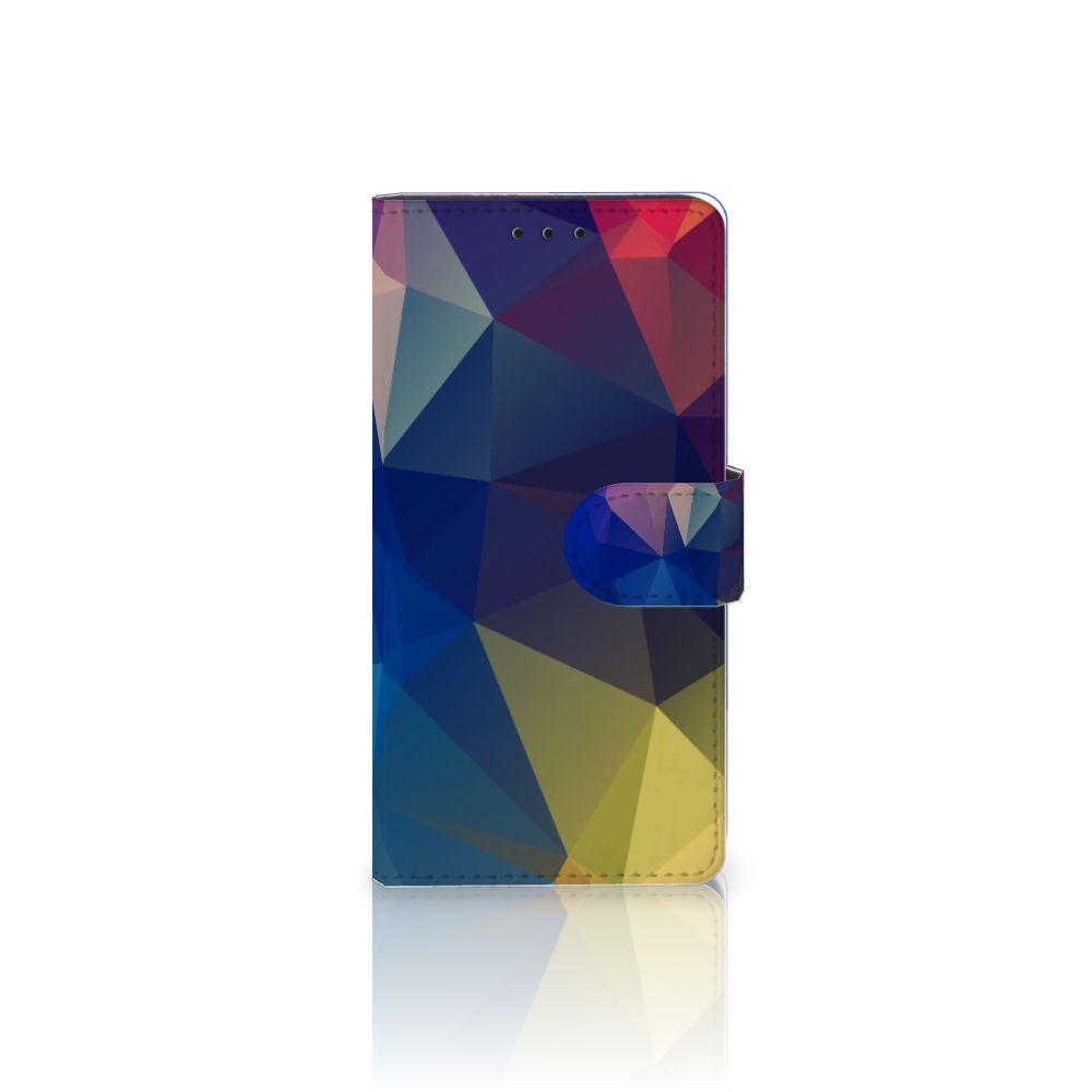 Samsung Galaxy J5 2016 Uniek Boekhoesje Polygon Dark