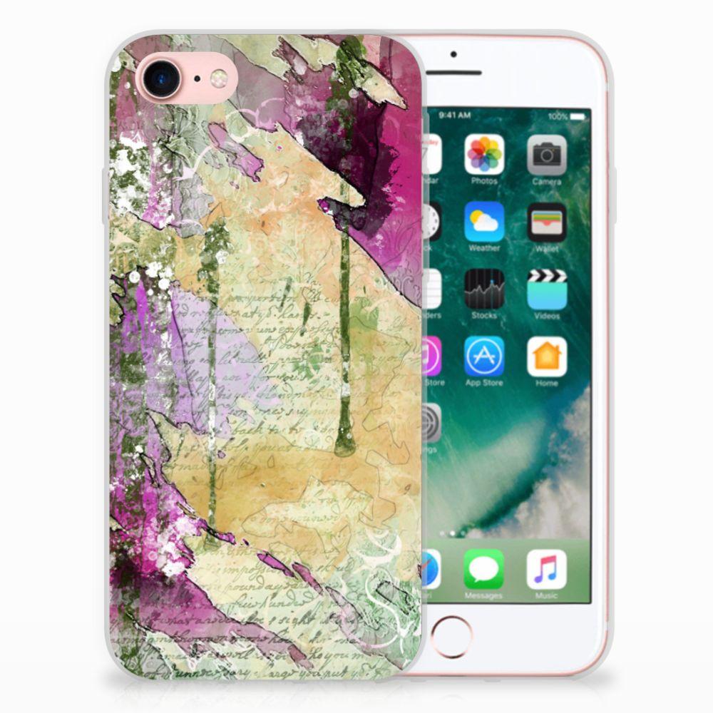 Apple iPhone 7 | 8 Uniek TPU Hoesje Letter Painting