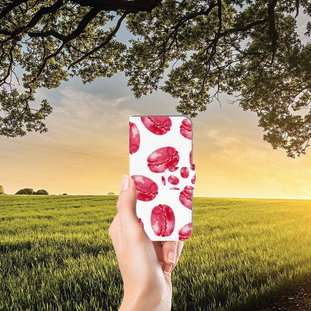 Samsung Galaxy J3 2016 Boekhoesje Design Pink Macarons