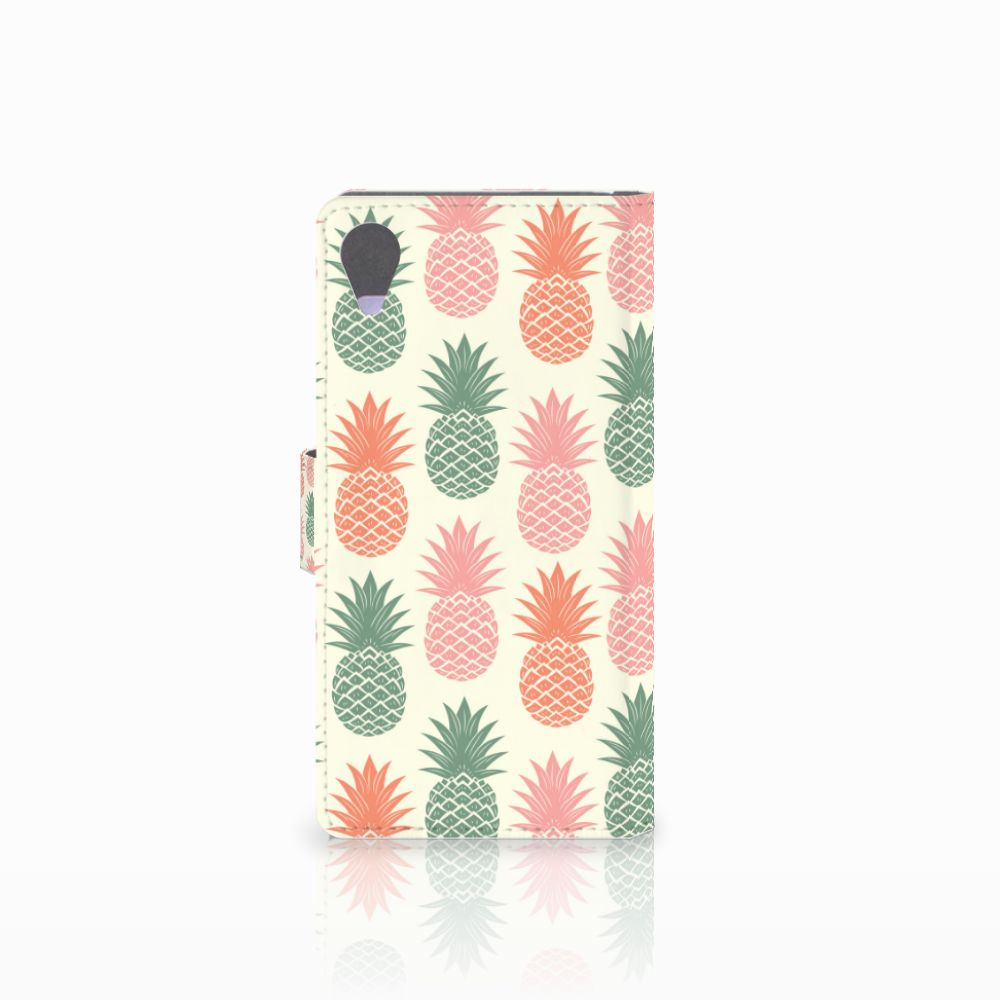 Sony Xperia X Performance Book Cover Ananas