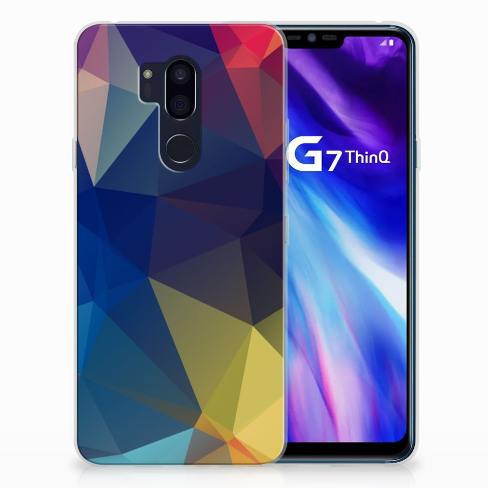 LG G7 Thinq TPU Hoesje Polygon Dark