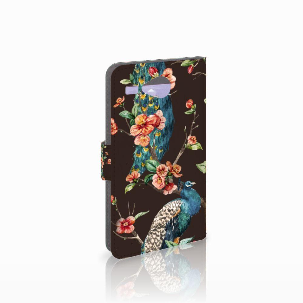 Acer Liquid Z520 Boekhoesje Design Pauw met Bloemen