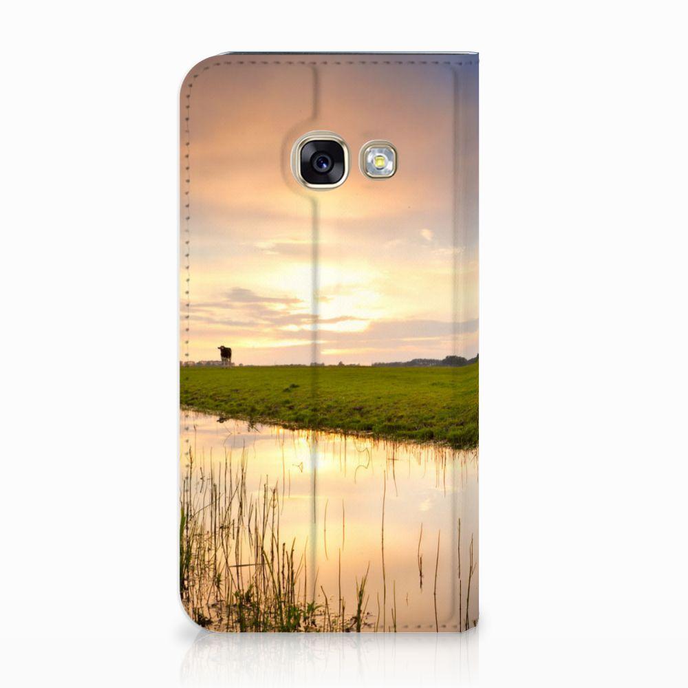 Samsung Galaxy A3 2017 Standcase Hoesje Design Koe