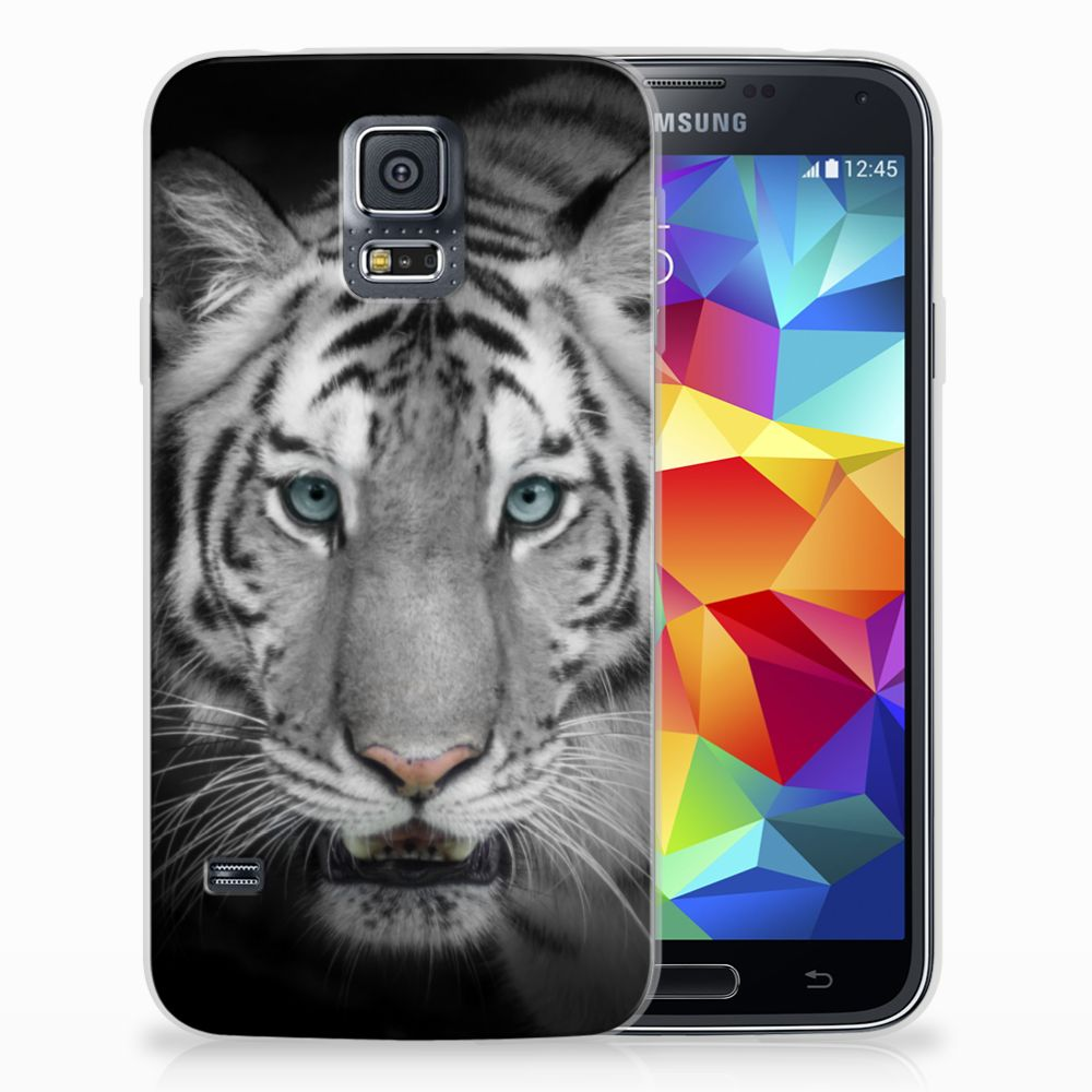 Samsung Galaxy S5 Uniek TPU Hoesje Tijger