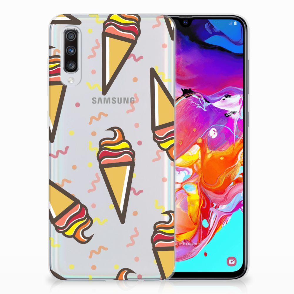 Samsung Galaxy A70 Siliconen Case Icecream