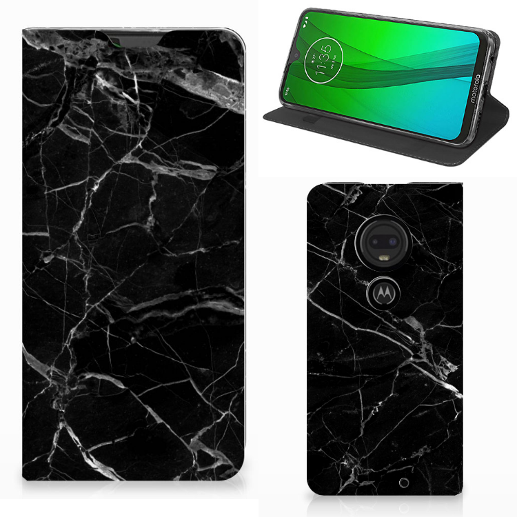 Motorola Moto G7 | G7 Plus Standcase Marmer Zwart