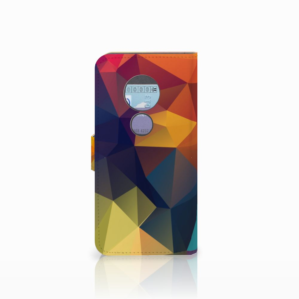 Motorola Moto G6 Play Bookcase Polygon Color