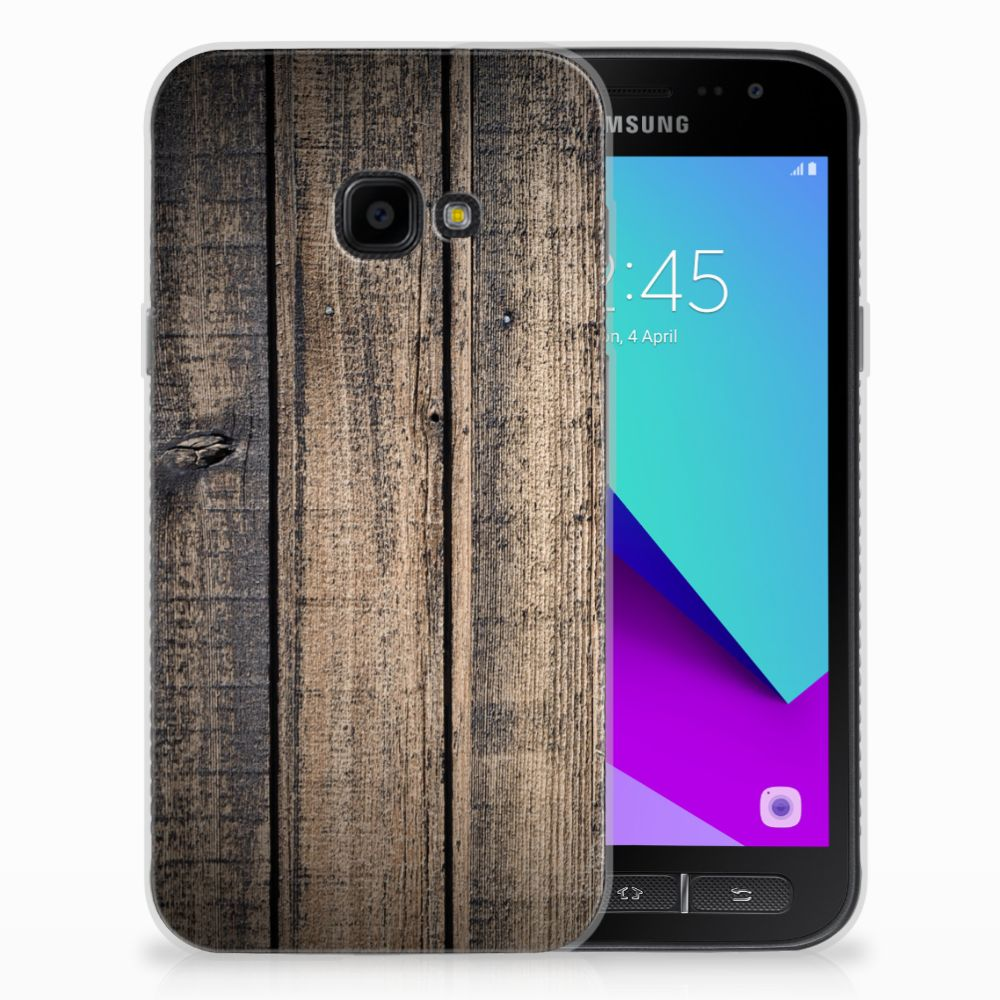 Samsung Galaxy Xcover 4 TPU Hoesje Design Steigerhout