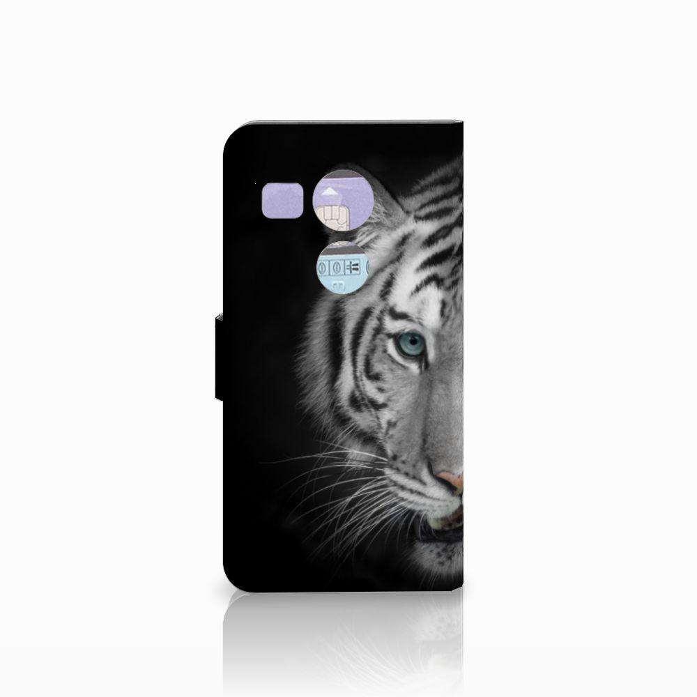 LG Nexus 5X Telefoonhoesje met Pasjes Tijger