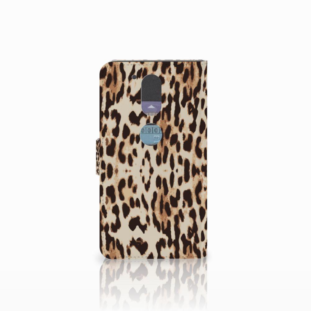 Motorola Moto G4   G4 Plus Telefoonhoesje met Pasjes Leopard