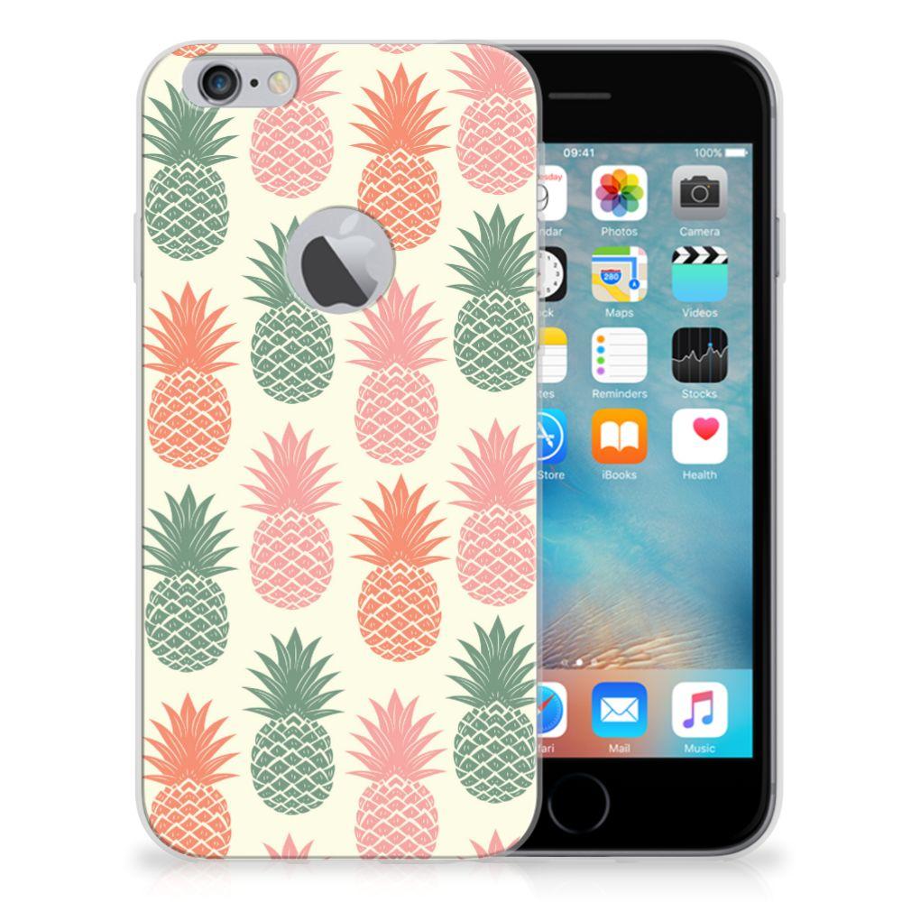 Apple iPhone 6 Plus   6s Plus Siliconen Case Ananas