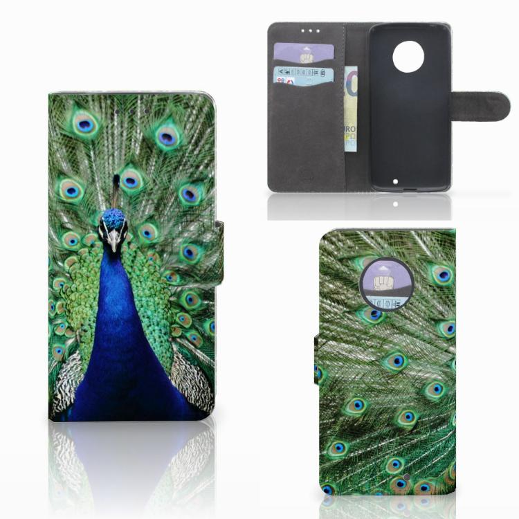 Motorola Moto X4 Telefoonhoesje met Pasjes Pauw