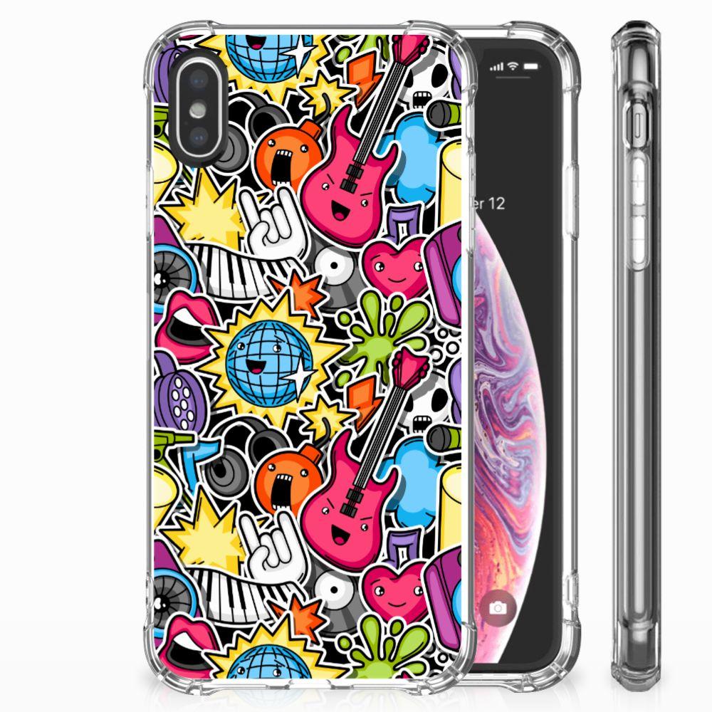 Apple iPhone X   Xs Uniek TPU Hoesje Punk Rock