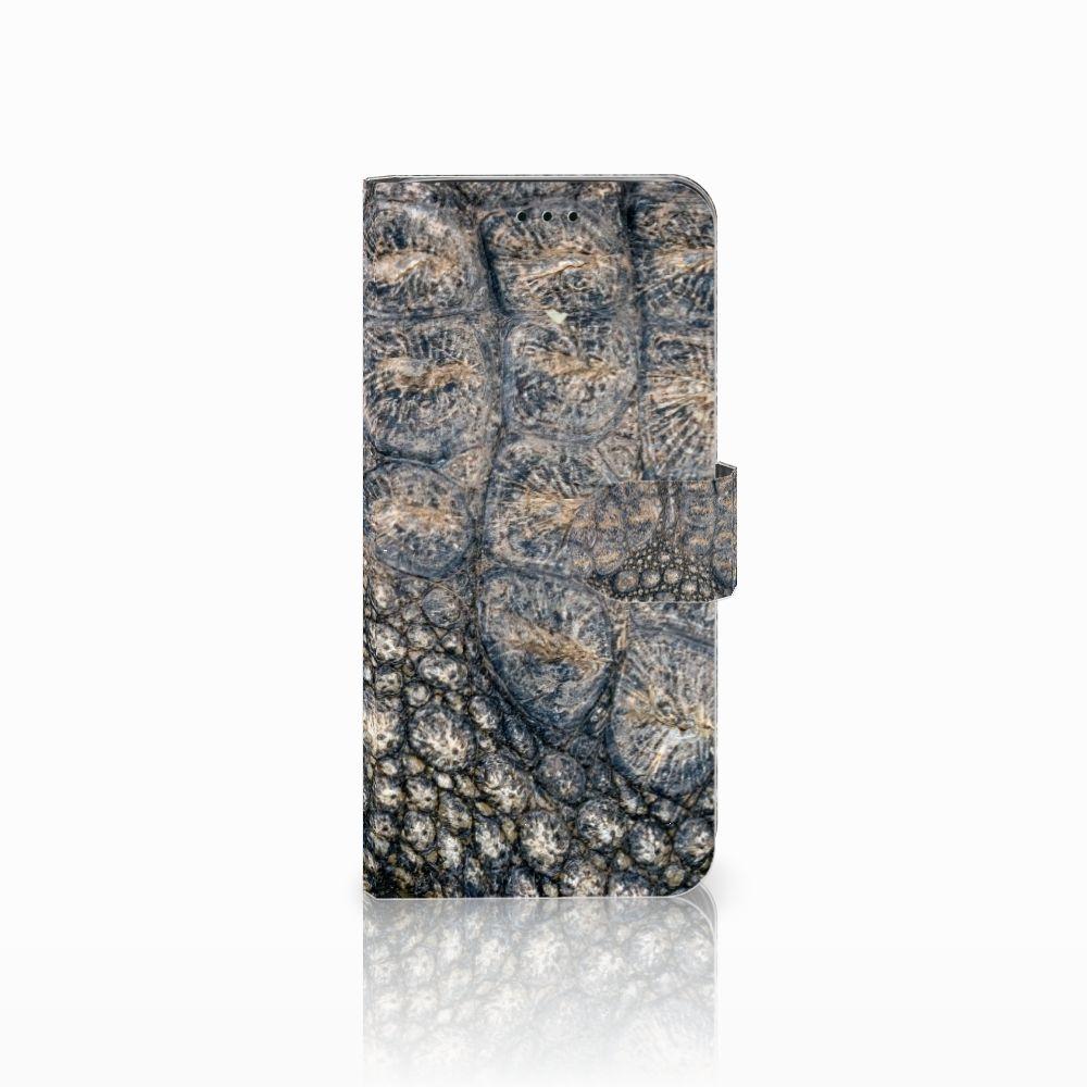 Samsung Galaxy J6 2018 Uniek Boekhoesje Krokodillenprint