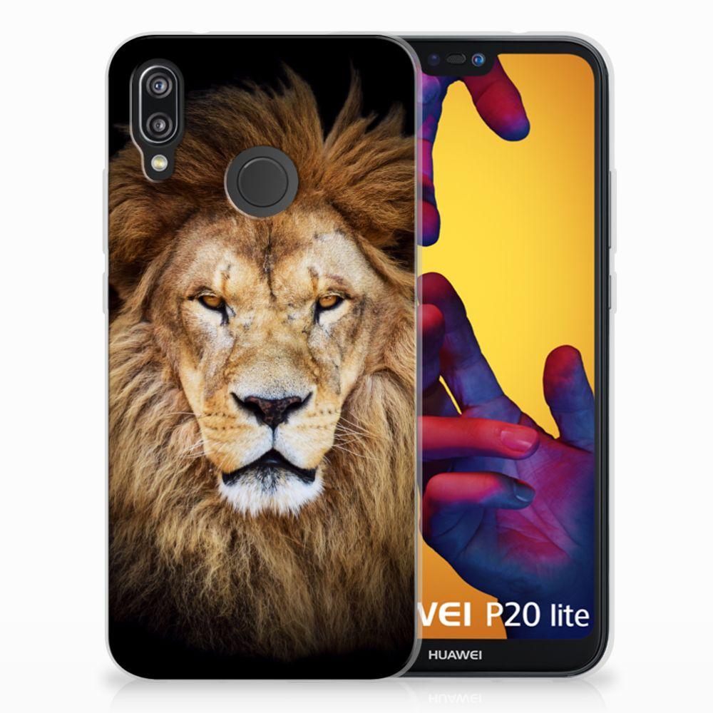 Huawei P20 Lite TPU Hoesje Leeuw