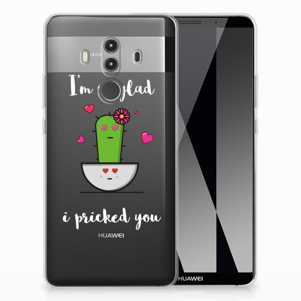 Huawei Mate 10 Pro TPU Hoesje Design Cactus Glad