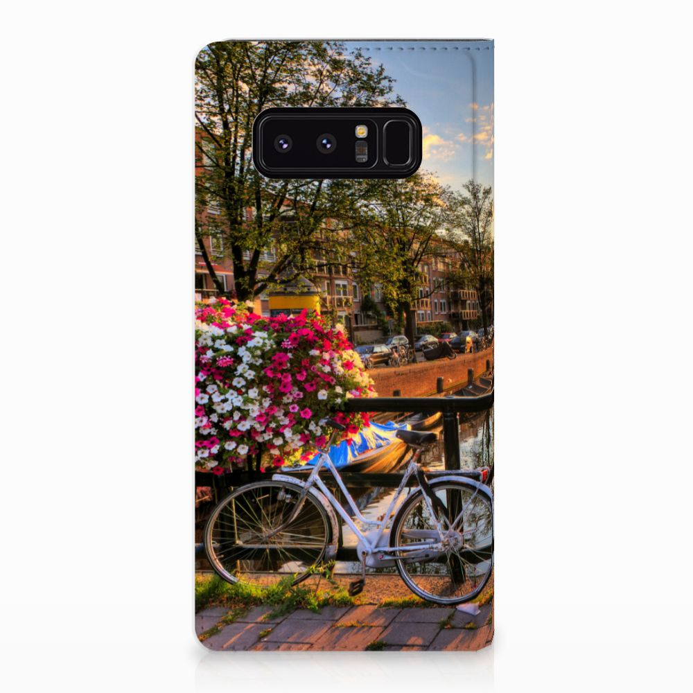 Samsung Galaxy Note 8 Uniek Standcase Hoesje Amsterdamse Grachten
