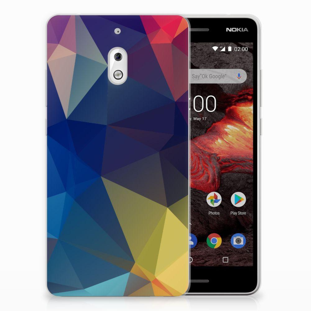 Nokia 2.1 (2018) TPU Hoesje Polygon Dark
