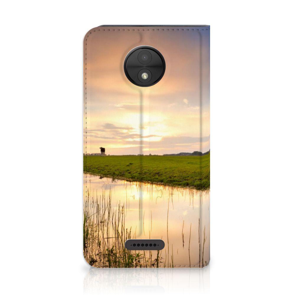 Motorola Moto C Standcase Hoesje Design Koe