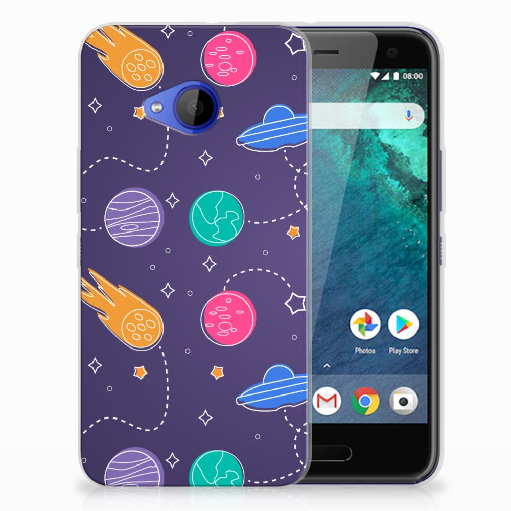 HTC U11 Life Uniek TPU Hoesje Space