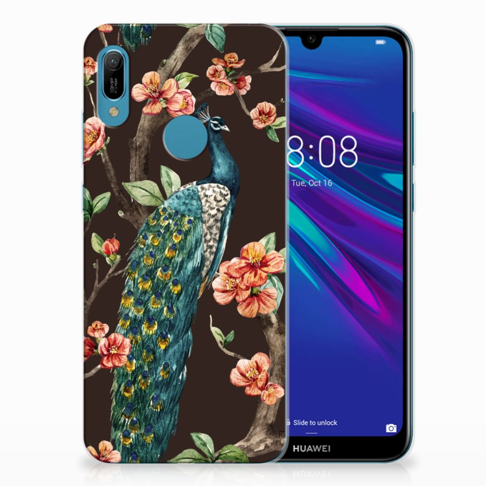 Huawei Y6 2019 | Y6 Pro 2019 TPU Hoesje Pauw met Bloemen