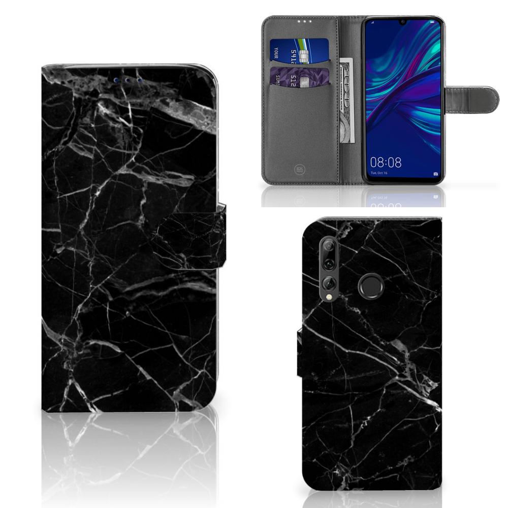 Huawei P Smart 2019 Bookcase Marmer Zwart - Origineel Cadeau Vader