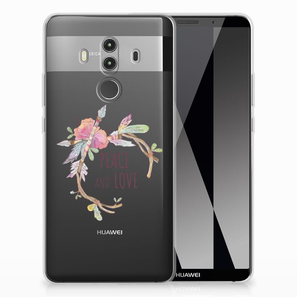 Huawei Mate 10 Pro Uniek TPU Hoesje Boho Text