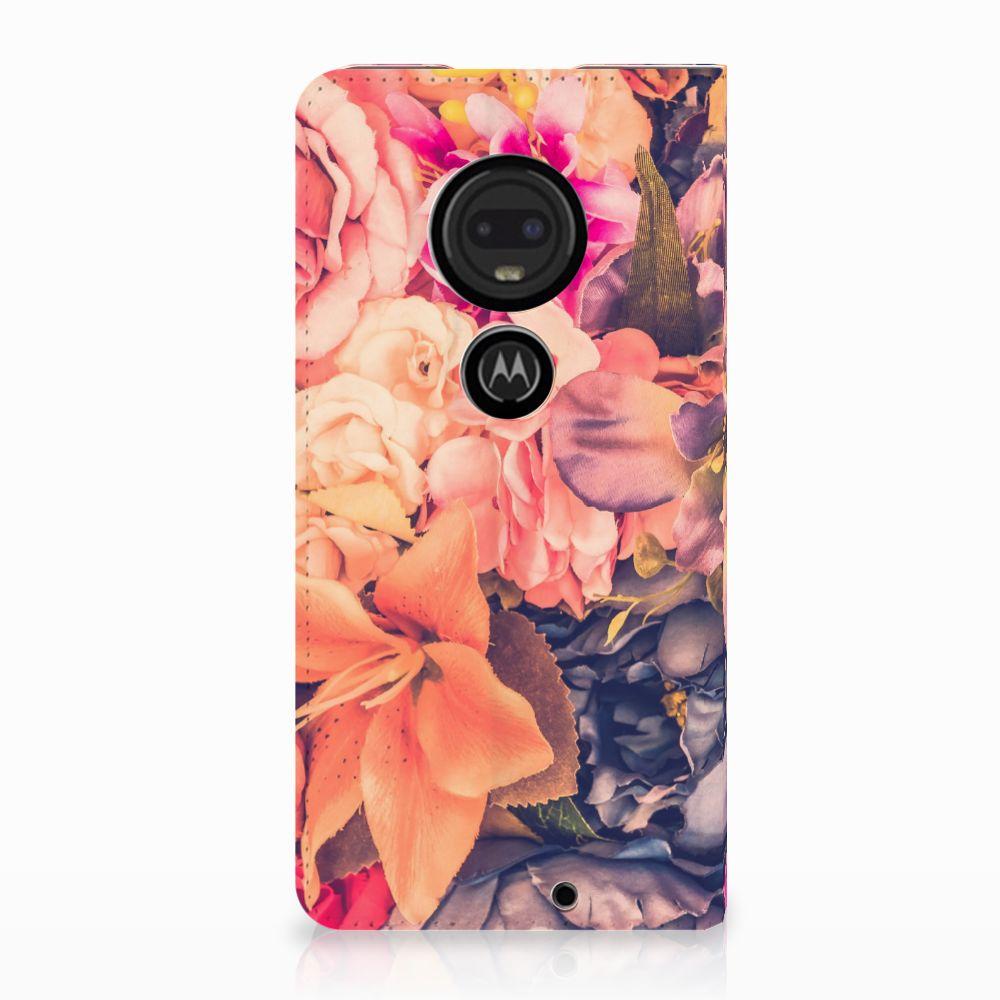 Motorola Moto G7 | G7 Plus Standcase Hoesje Design Bosje Bloemen