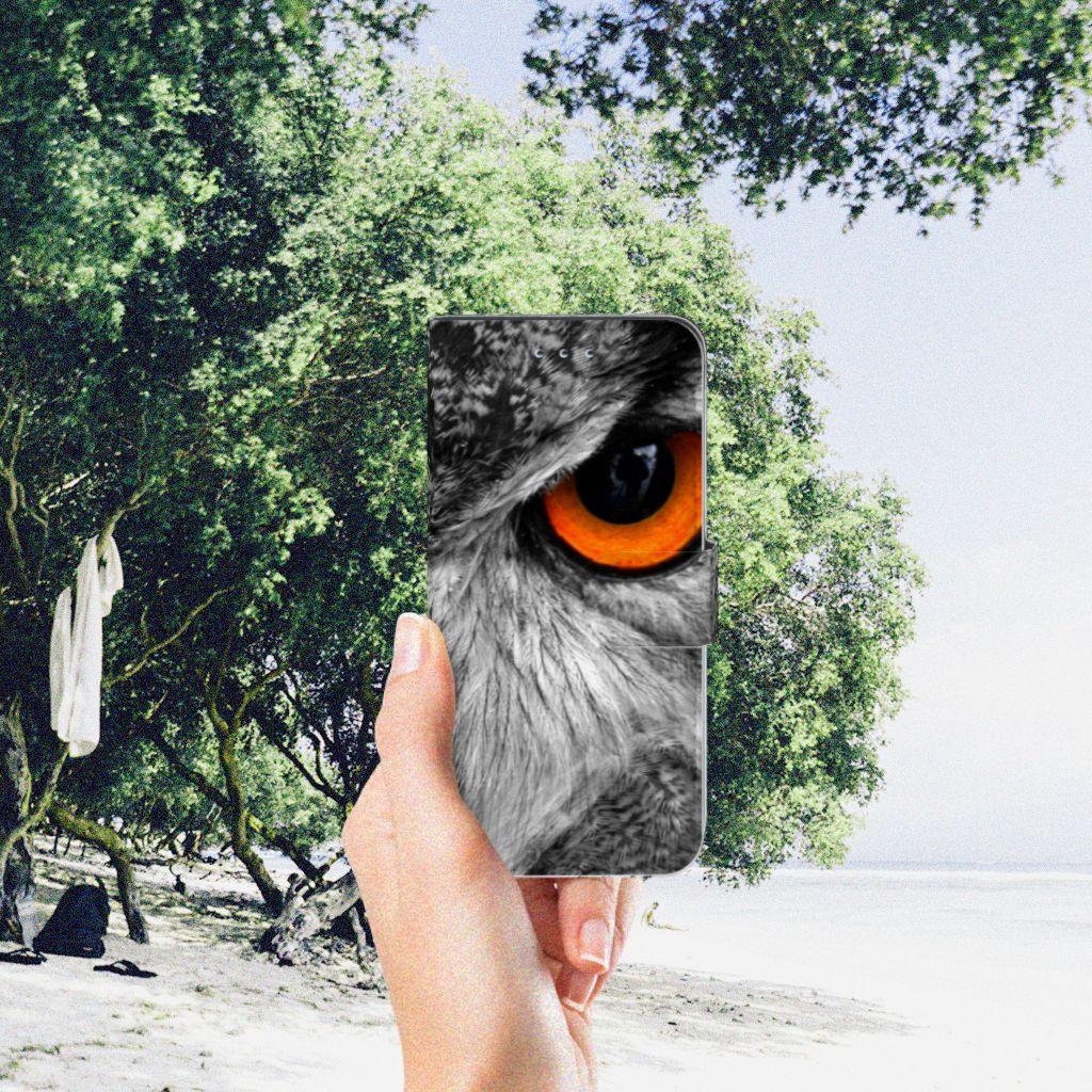 Samsung Galaxy S7 Edge Telefoonhoesje met Pasjes Uil
